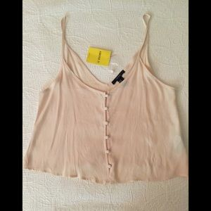 NWT Forever 21 camisole top blush pink size M